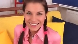tenåring babe blowjob brunette