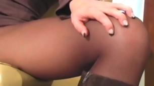 tenåring brunette onani fetish