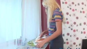 tenåring blowjob blonde anal